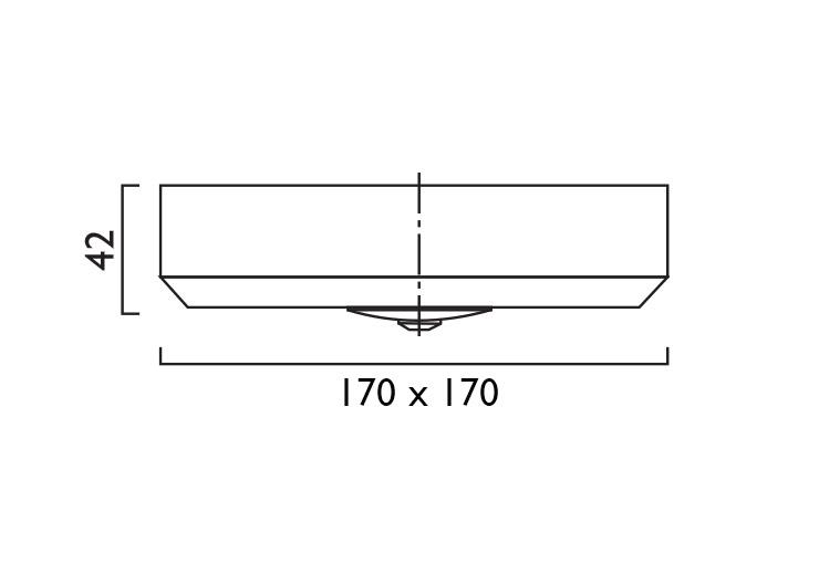 Waylight 3 Square Surface Line Drawing